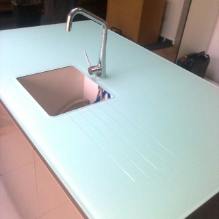 Backpainted Glass Worktop