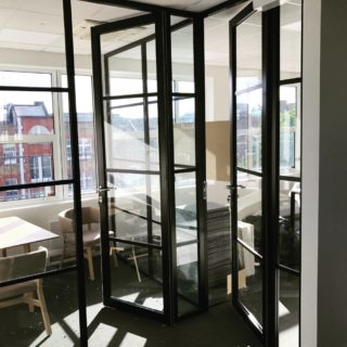 ... Crittall style glass partitions and doors which are a modern take on a classic style. This is both elegant and stylish in a sturdy framework system. & New - Crittall Style Glass Paritions u0026 Doors! - Hallmark Glass and ... pezcame.com