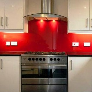 Red Glass Splashback Cropped