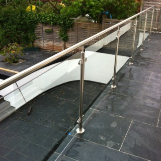 Glass Balustrades Close Up