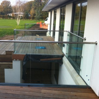 Glass Balustrades Side View