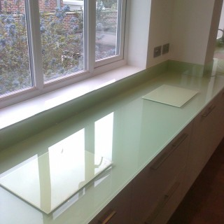 Pale Glass Worktop close up