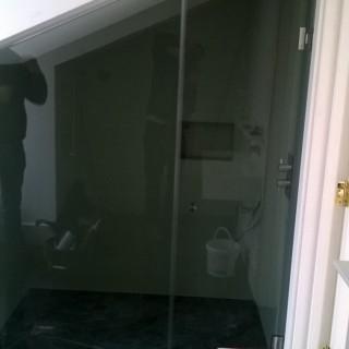 Shaped Shower Screen