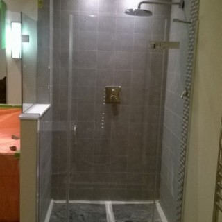glass shower front